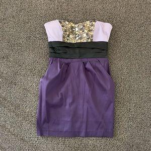 Bebe Colourblock Mini Dress. With Pockets!
